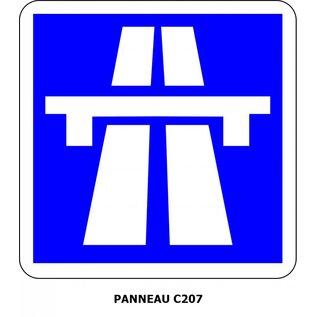 Panneau  C207 Section d'autoroute