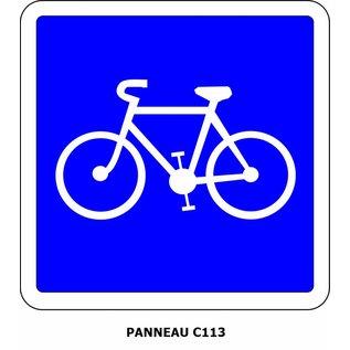 Panneau C113 Voie réservée aux cyclistes