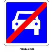 Panneau c108 Fin d'une section de route