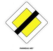 Panneau AB7 Fin du caractère prioritaire d'une route