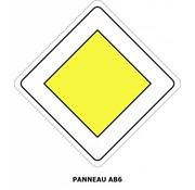 Panneau AB6 Route prioritaire