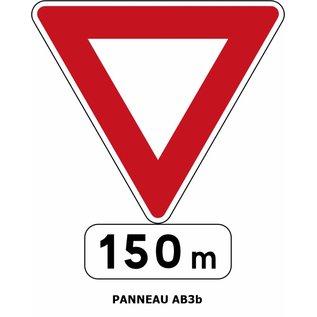Panneau AB3b Signal avancé du panneau AB3a