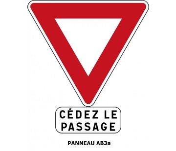 Panneau AB3a Cédez le passage à l'intersection