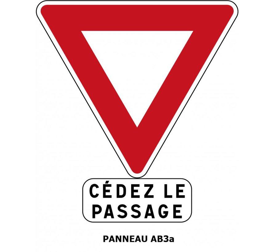 Panneau AB3a Cédez le passage à l'intersection