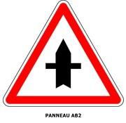 Panneau AB2 Intersection sur route prioritaire