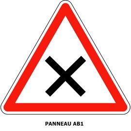 Panneau AB1 Intersection priorité à droite
