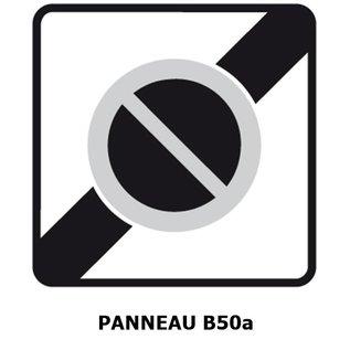 Panneau B50a Sortie d'une zone à stationnement interdit