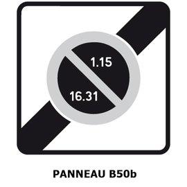 Panneau B50b Sortie d'une zone à stationnement unilatéral