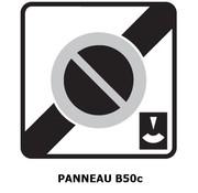 Panneau B50c Sortie d'une zone à stationnement avec disque