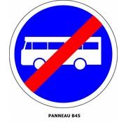 Panneau B45 Fin de voie réservée aux véhicules des services réguliers de transport en commun