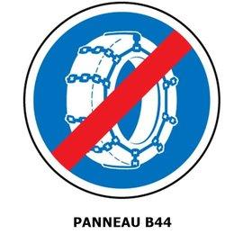 Panneau  B44 Fin d'obligation de l'usage de chaînes à neige