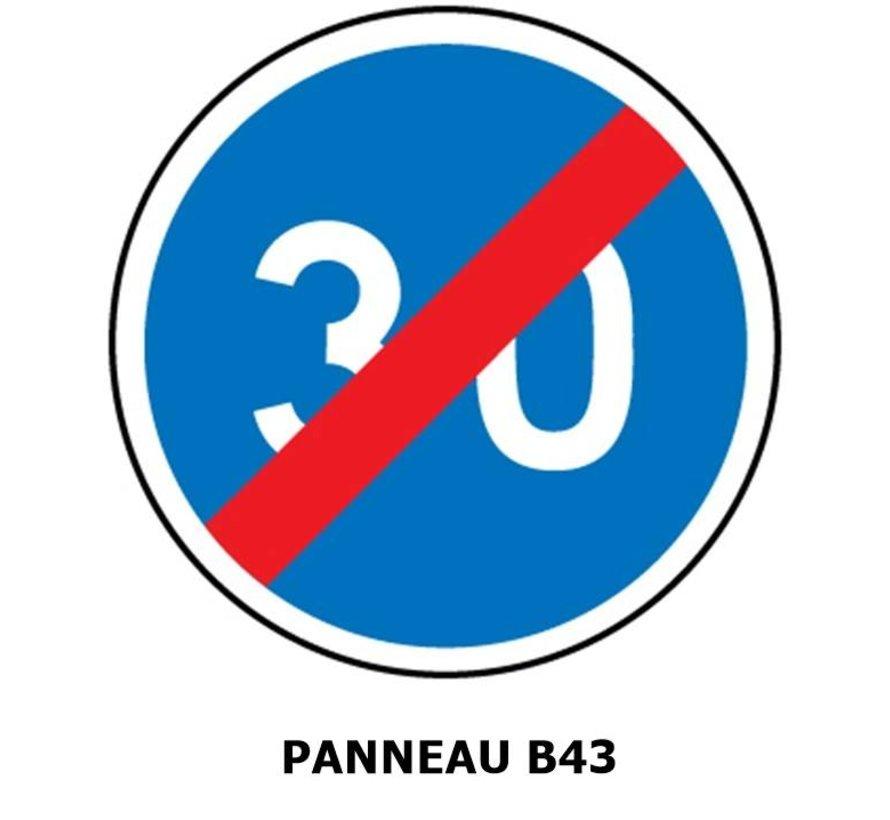 Panneau B43 Fin de vitesse minimale obligatoire