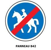 Panneau B42 Fin de chemin obligatoire pour cavaliers