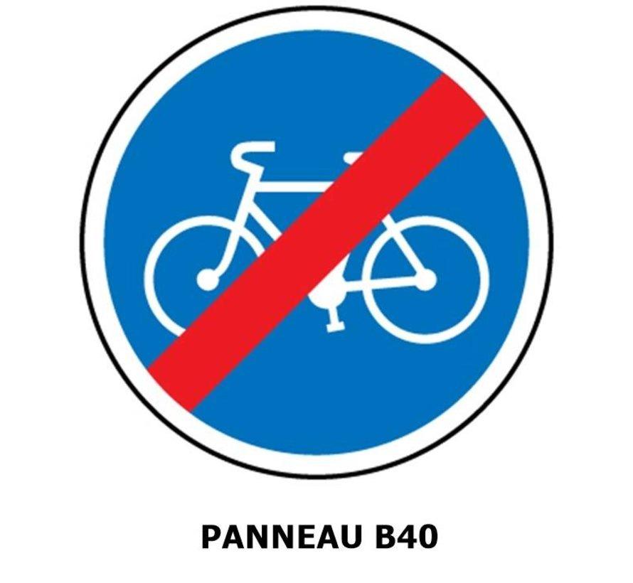 Panneau B40 Fin d'une piste cyclable obligatoire