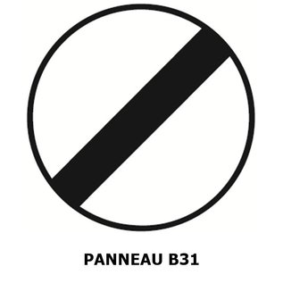 Panneau B31 fin d'interdiction
