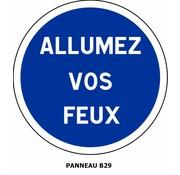 Panneau B29 Autres obligations dont la nature est mentionnée par une inscription sur le panneau
