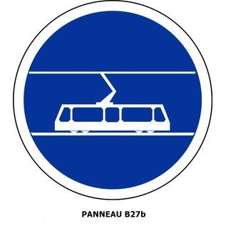 Panneau B27b Voie réservée aux tramways