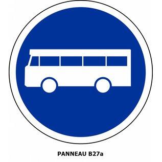 Panneau  B27a Voie réservée aux véhicules des services réguliers de transport en commun