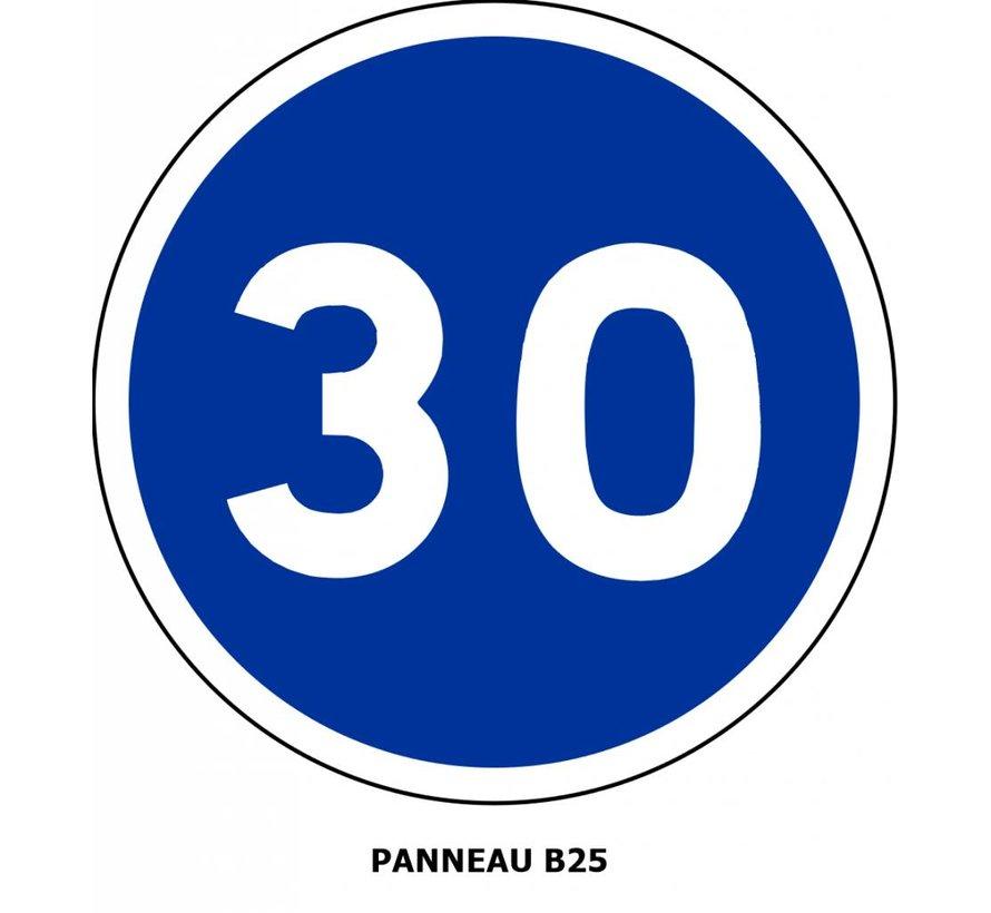 Panneau B25 Vitesse minimale obligatoire