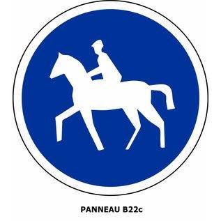 Panneau B22c Chemin obligatoire pour cavaliers