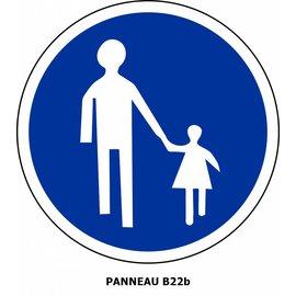 Panneau  B22b Chemin obligatoire pour piétons
