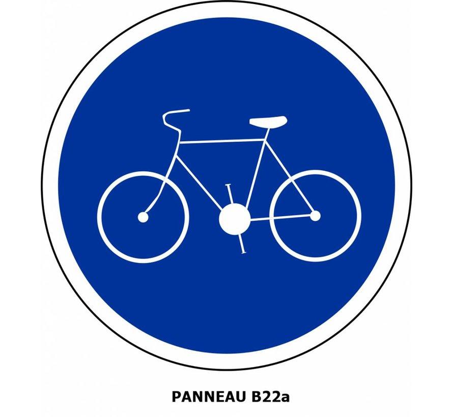 Panneau B22a Obligation de circuler sur la piste cyclable
