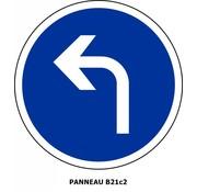 Panneau B21c2 Obligation de tourner à gauche