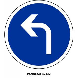 Panneau de signalisation B21c2 - Obligation de tourner à gauche