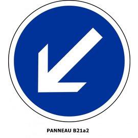 Panneau  B21a2 Obligation de contourner par la gauche