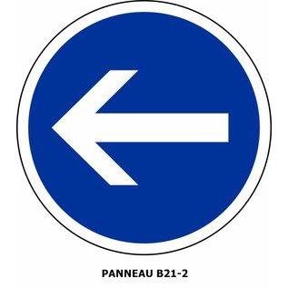 Panneau B21-2 Obligation de tourner à gauche