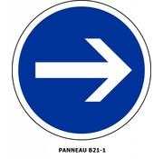 Panneau B21-1 obligation de tourner à droite
