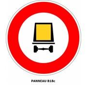 Panneau  B18c Accès interdit aux véhicules dangereux