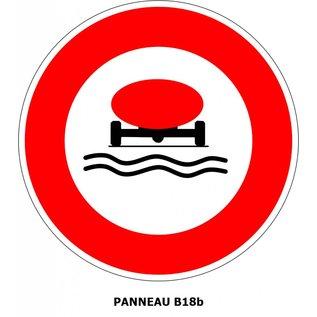Panneau B18b Accès interdit aux véhicules polluants