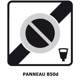 Panneau B50d Zone à stationnement payant