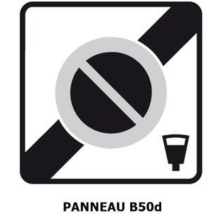 Panneau B50d Sortie de zone à stationnement payant