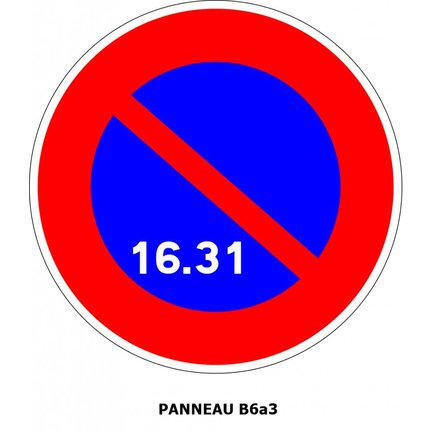 Panneaux de signalisation Type B : Stationnements