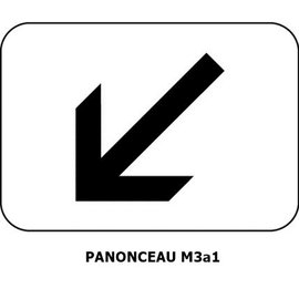 Panonceau M3a1 (pour panneau carré)