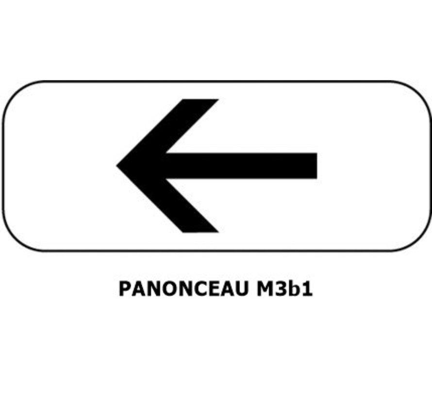 Panonceau  M3b1 (pour panneau carré)