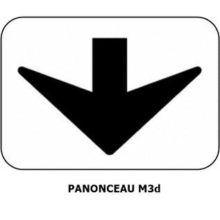 Panonceau M3d (pour panneau rond)