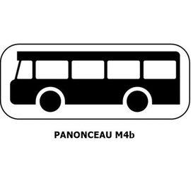 Panonceau M4b (pour panneau carré)