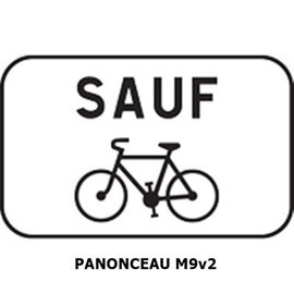 Panonceau M9v2 (pour panneau rond)