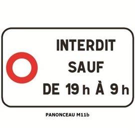 Panonceau  M11b (pour panneau carré)