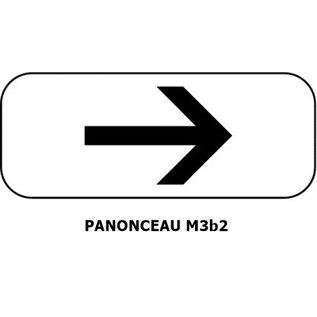 Panonceau  M3b2 (pour panneau carré)
