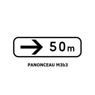 Panonceau M3b3 (pour panneau carré)