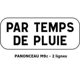 Panonceau M9z - 2 lignes (texte long pour panneau rond)