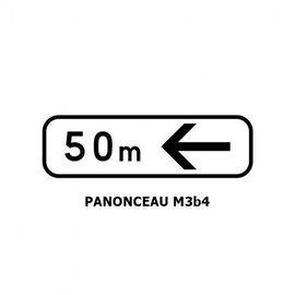 Panonceau M3b4 (pour panneau rond)