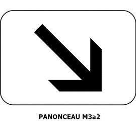 Panonceau M3a2 (pour panneau rond)