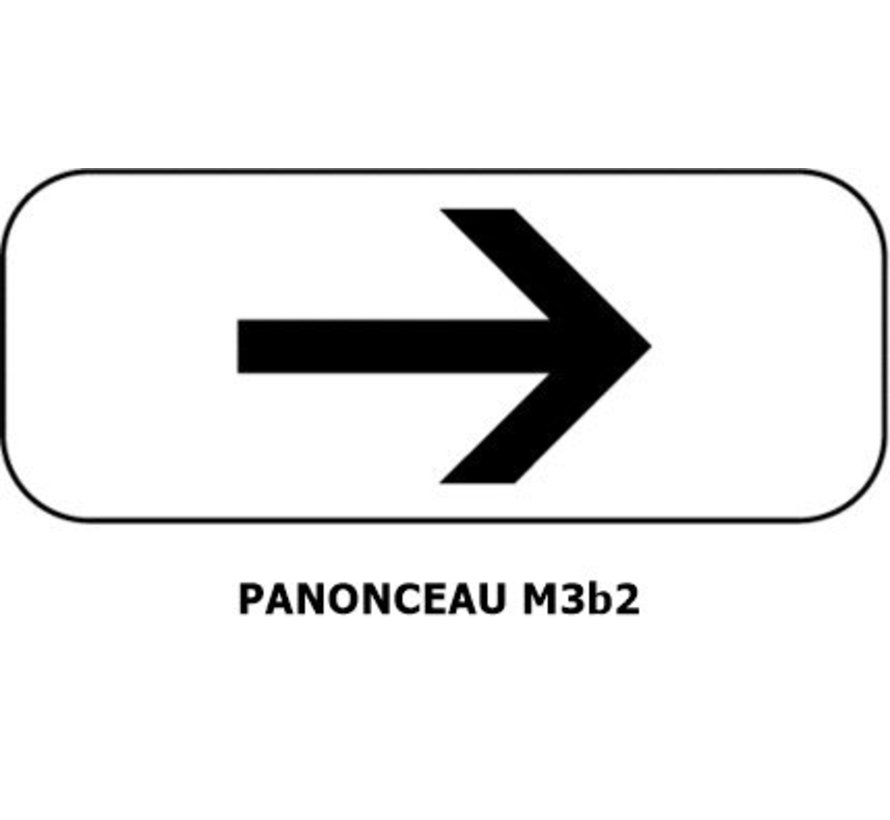 Panonceau  M3b2 (pour panneau rond)