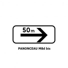 Panonceau TYPE M8d bis (pour panneau rond)