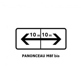 Panonceau TYPE M8f bis (pour panneau rond)